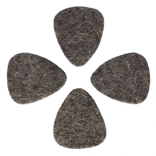 Felt Tones Grey Wool Felt 4 Guitar Picks